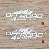 2X White 6'' 4X4 Off Road 4WD Mountain Decal Sticker Car Vinyl fit for Jeep Toyota Ford Style b