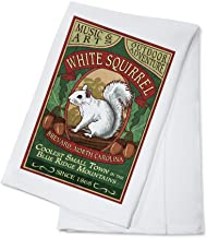 Brevard, North Carolina - White Squirrel Vintage Sign (100% Cotton Kitchen Towel)