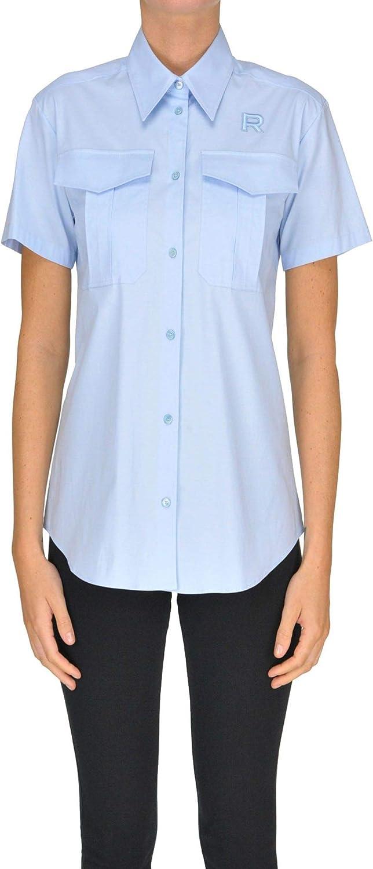 ROCHAS Women's MCGLTPC000005034E Light blueee Cotton Shirt