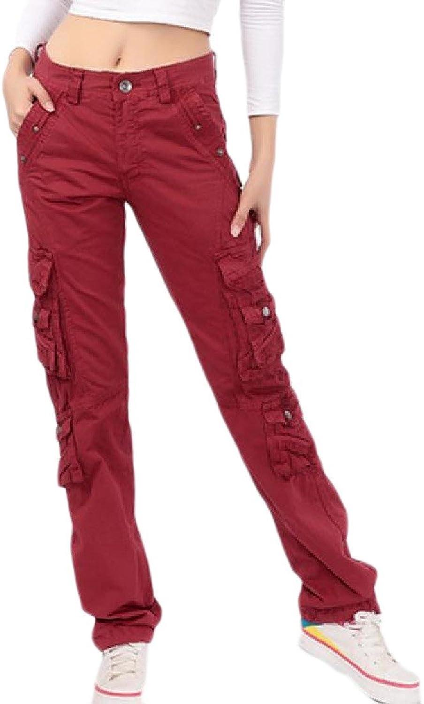 SportsX Women Straight MultiPocket Thick Autumn AllMatch Cargo Pants