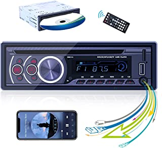 Single Din Bluetooth Car Stereo Digital Media Receiver Car DVD Player CD Player FM Radio Receiver Compatible with CD/VCD/M...