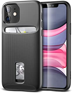 ESR Wallet Case for iPhone 11 - Wallet Armor [Slim + Protective] Premium Credit Card Holder for iPhone 11 - Black