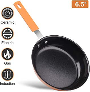 Nonstick Small Egg Frying Pan 6.5 Inches Chef Pan Mini Size Dishwasher-Safe and PFOA-Free