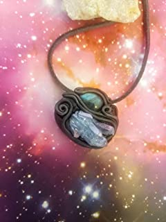Indigo Sirian Starseed Crystal Pendant. Blue Ray Starseed Necklace. Indigo Children soul crystal jewelry. Lightworker stones. Men crystal necklace