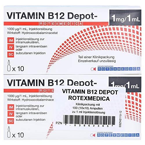 VITAMIN B12 Depot Rotexmedica Injektionslös 100X1 ml