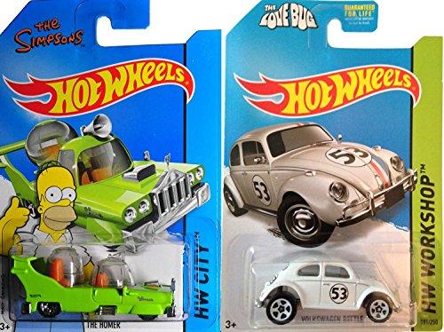 Hot Wheels Tooned Homer Simpson & Herbie The Love Bug Volkswagen