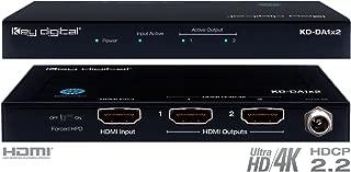 Key Digital KD-DA1x2 1 Input to 2 Outputs HDMI Distribution Amplifier, supports Ultra HD/4K & HDCP 2.2