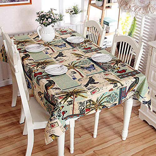 zvcv Table Cloth Wipe Clean,Cotton Table Cover Waterproof Dust-Proof Jacquard Tablecloth Nordic Style Square Shape For Dining Kitchen Garden Table Cover For Buffet Table Parties Holiday Dinner