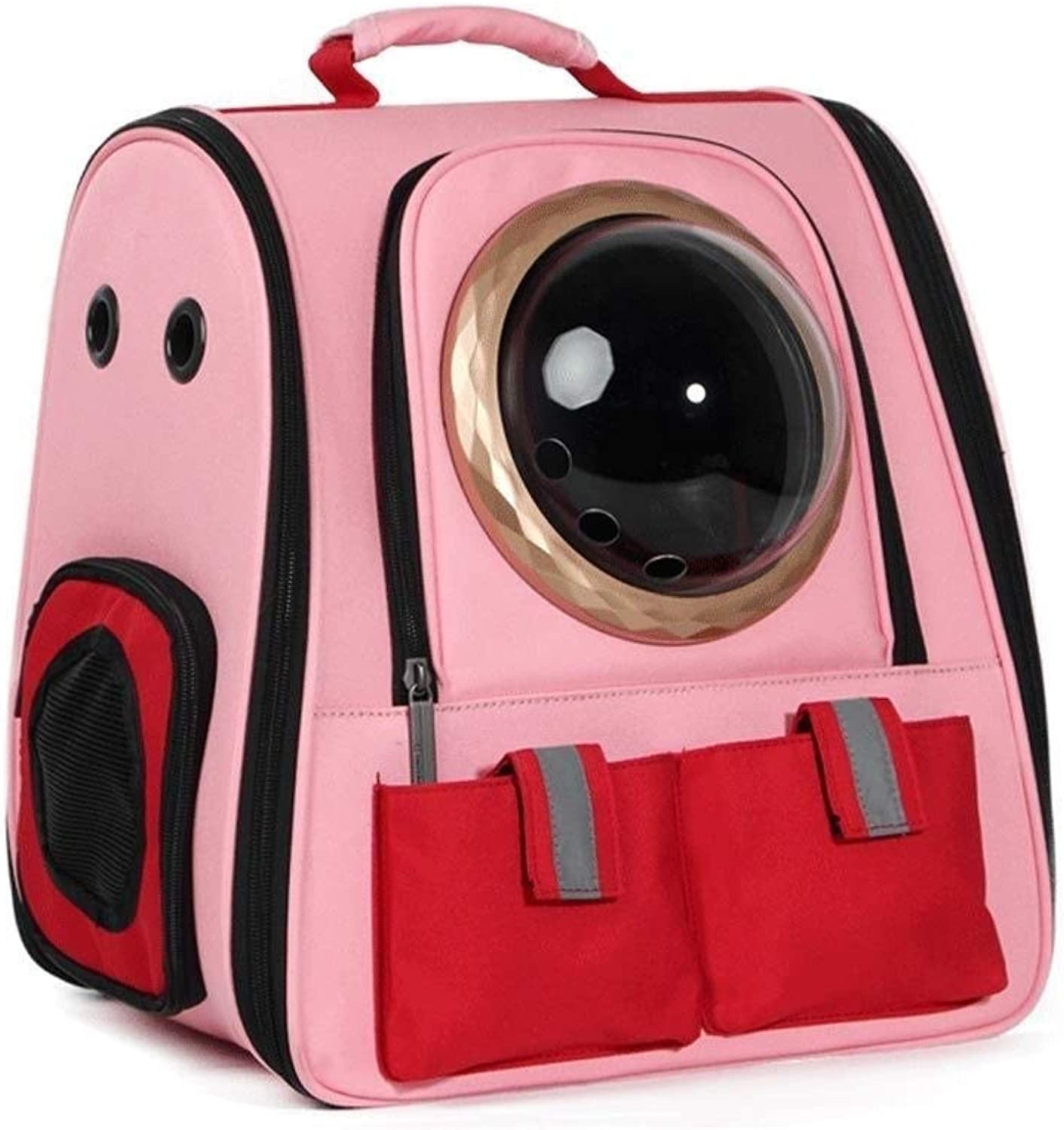 LEOO Pet Carrier Backpack for Small Cats and Dogs, Puppies   Ventilated Design, Safety Features and Cushion Back Support   for Travel, Hiking, Outdoor Use (color   PinkA)