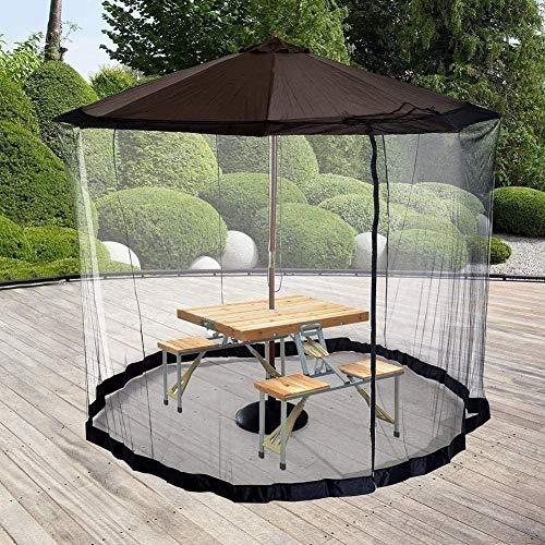 WYJW Gartenschirm Sonnenschirme im Freien, Sonnenschirm-Moskitonetz, 300 x 230 cm, für Insektenbekämpfung, Reisen, Zuhause, verwandeln Sie Ihren Sonnenschirm in einen Pavillon