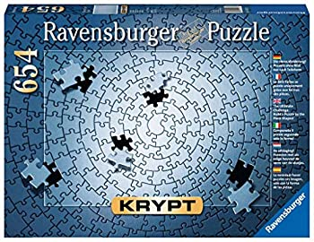 Ravensburger Krypt Silver 654 Piece Blank Jigsaw Puzzle Challenge for Adults – Every Piece is Unique Softclick Technology Means Pieces Fit Together Perfectly