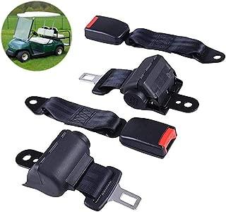VB WYLL 2 PCS Universal Retractable Golf Cart Seat Lap Belts for EZGO/Yamaha/Club Car