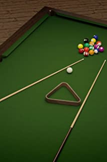 Billiards Cue Stick, Felt, and Balls on the Pool Table Journal: Take Notes, Write Down Memories in this 150 Page Lined Jou...