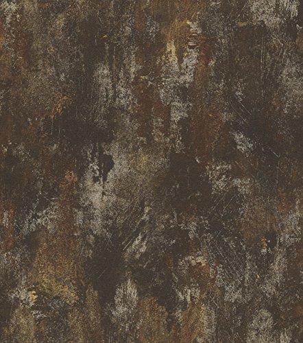 Tapete Rost Patina Glanz Rasch Pure Vintage schwarz gold 418224