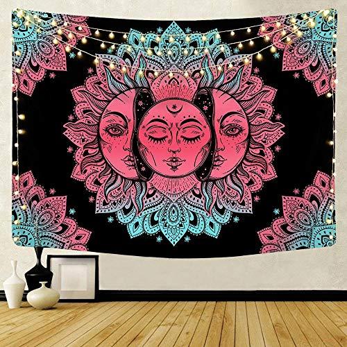 KHKJ Tarot Wall Hanging mandala bohemian tarot Print tapestry carpet mandala wall decor boho tree A2 95x73cm