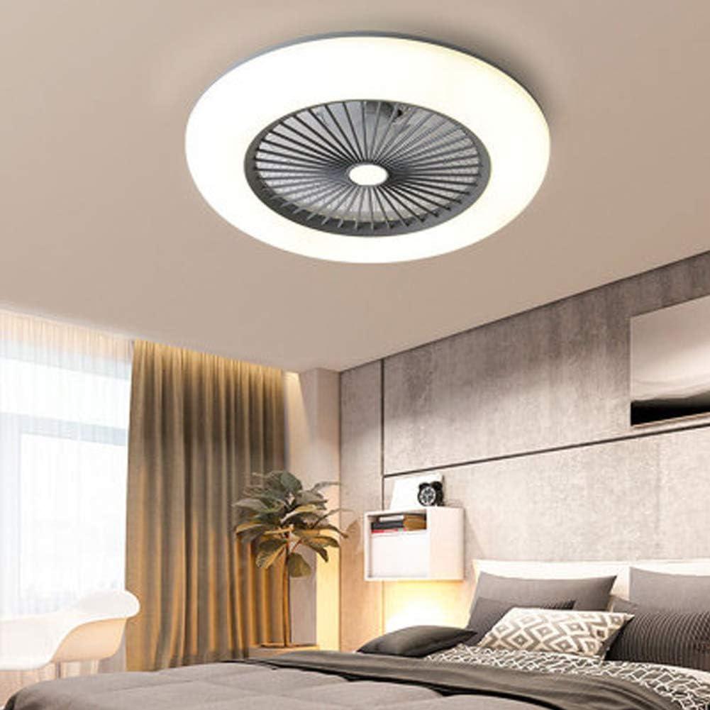 Deckenventilator mit Beleuchtung, Leise Ventilator mit Fernbedienung Dimmen Timing-funktion, 36w Moderne Led Deckenlampe Passend für Kinderzimmer Schlafzimmer Wohnzimmer Innen, [Energieklasse A++] Grau