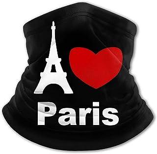 I Love Paris - Pasamontañas para el cuello con protección UV para niños, resistente al viento, multifunción, para niños y ...