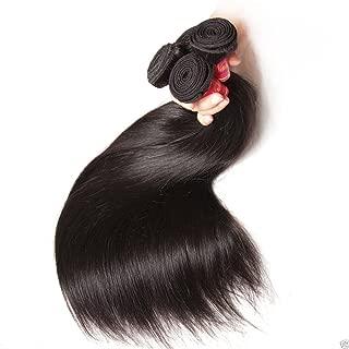 Peruvian STRAIGHT 3 Bundle Pack Virgin Hair Weave Extension Weft Track 100% Human hair