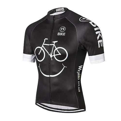 8ddaff62d0c Weimostar Men s Cycling Jersey Biking Shirt Summer Breathable Short Sleeve