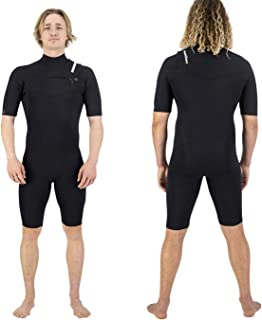 Coastlines Wetsuits Premium Mens 2:2 Chest Zip Neoprene Springsuit Thermal Suits Surfing Swimming Short Sleeve for Water S...