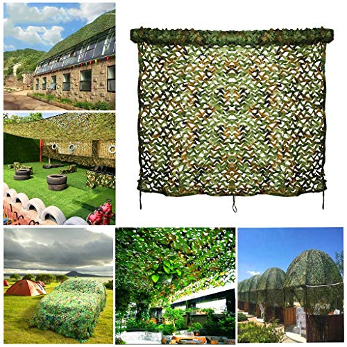 Army Net Camouflage Military Reinforced Green Awning for Hunting Camping Garden Gazebo Terrace Greenhouse Pergola Decoration 3x4m 6x8m 12m 10m Shade Sails Fabrics Sun Shade for Patio (Size : 3 * 3M)
