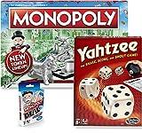Classic Monopoly, Monopoly Deal, & Classic Yahtzee Bundle |Exclusively Bundled by Brishan