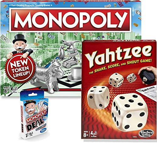 Classic Monopoly Monopoly Deal amp Classic Yahtzee Bundle |Exclusively Bundled by Brishan