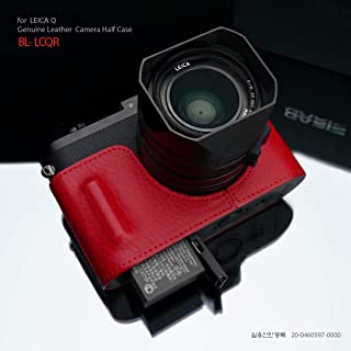 Gariz Black Label Genuine Leather BL-LCQR Half Case for Leica Q Type 116, Red