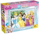 Lisciani Puzzle para niños de 108 piezas 2 en 1, Doble Cara con reverso para colorear - Disney Princesas 47963