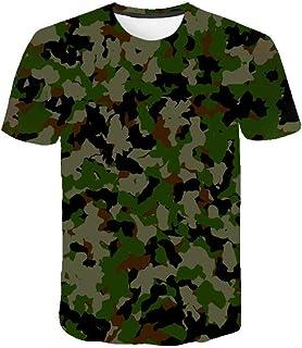 Camiseta para Hombre Moda para Hombre Deportes Fitness 23 Camuflaje Camisa 3DT de Manga Corta Camisa para camuflaje-TXA1086_S