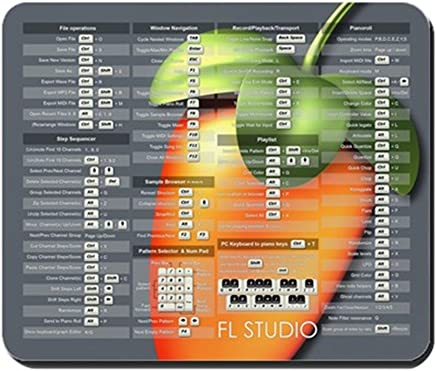 CafePress - FL Studio Keyboard Shortcuts with Fruit - Non-Slip Rubber Mousepad, Gaming Mouse Pad