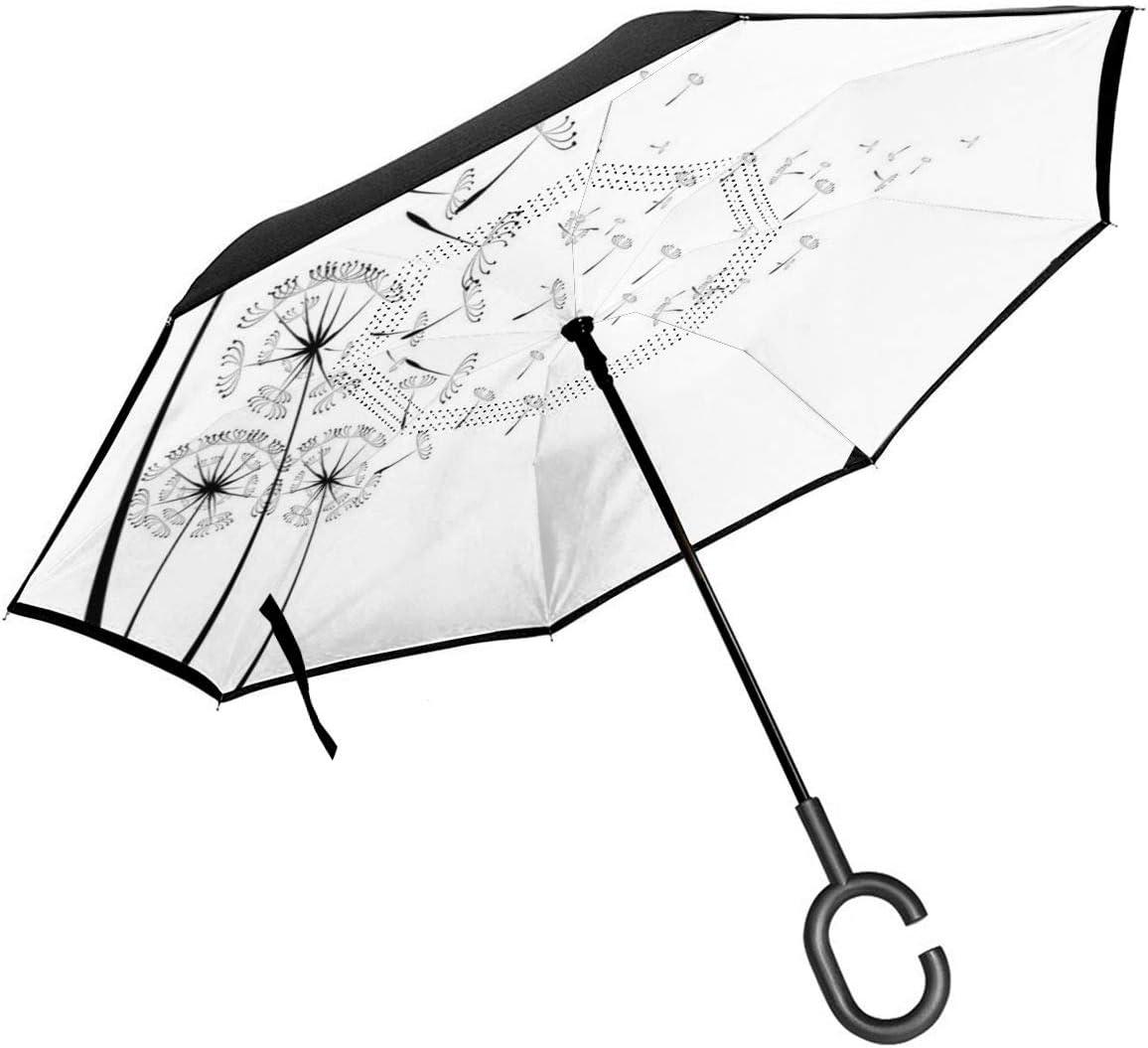 Car Reverse Umbrella Monochrome Dandelion Wind Seeds In Free Shipping New Dedication Blowing