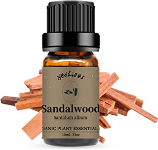 Yethious Sandalwood Essential Oils 100% Organic Pure Essential Oil for Diffuser Therapeutic Grade Aromatherapy Gift Oil 10ml