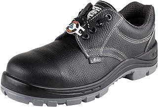 ACME Men's Black Leather Elics Safety Shoes (5)