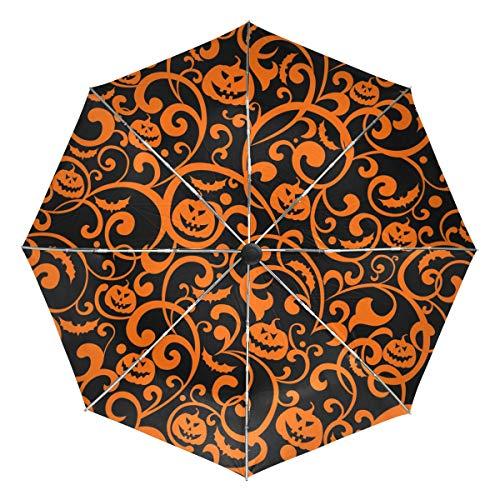 FANTAZIO Fantasio Reise-Regenschirm mit Wagenheber, automatischer Öffnung, leicht