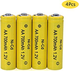 1.2V AA Rechargeable Battery, Cotchear Size AA 700mAh Rechargeable Ni-Cd Batteries 4Pcs AA Battery - Rechargeable Cycle Used More Than 500 Times (4pcs)