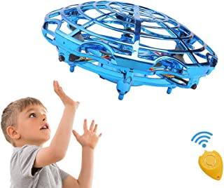 Mini Drones for Kids, Flying Toys Gift for Boys or Girls Toddlers, Scoot Hands Operated Mini RC Quadcopter UFO Ball Small Orb Easy Flying Indoor Helicopter with Remote Control