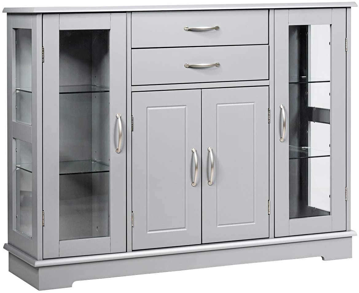 Giantex Sideboard Buffet Server Storage 3 W Drawers 2 Cabinet Max Daily bargain sale 61% OFF