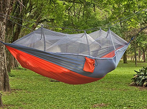 QAZSE Moustiquaire Hamac en Tissu de Parachute, 260 cm x 140 cm, 260CM*140CM-C