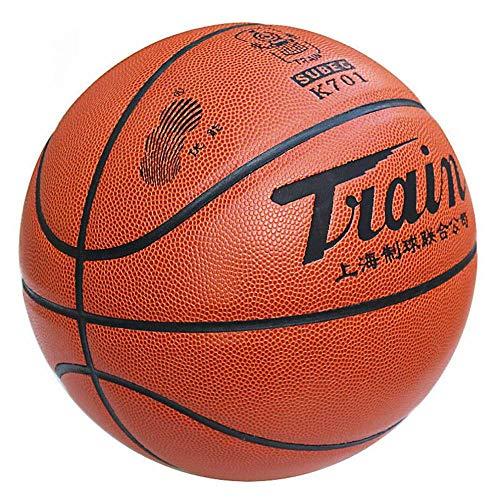 CN Basketball Nr. 6 Frauen Basketball PU Innen- und Außenbereich Zementboden abriebfestes Anti-Rutsch-Gefühl gut,Crimson,Nummer 6