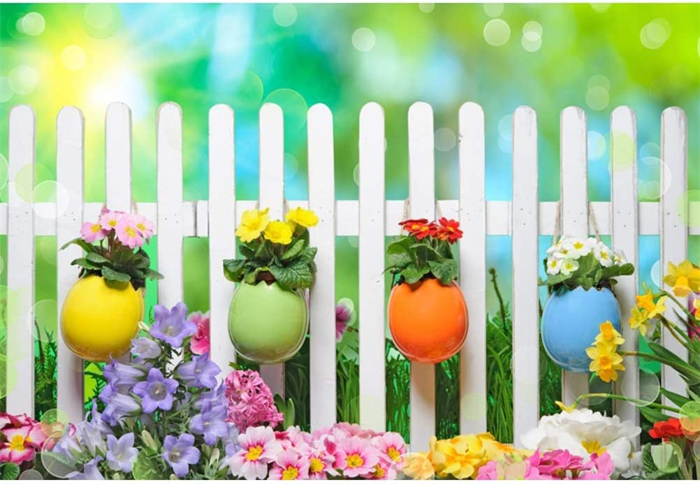 Laeacco Popular shop is the lowest price challenge Easter Theme 8x6.5ft Background Spring Photography Mesa Mall Vinyl
