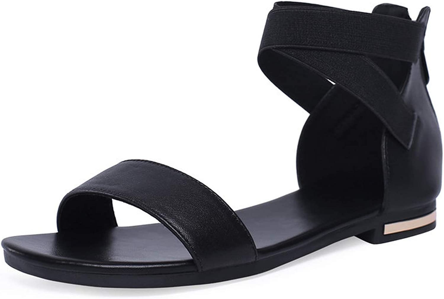 Summer shoes Woman Casual Genuine Leather shoes Women Flat with Sandals Women Leisure Ladies shoes