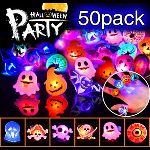 50PCS LED Fingerlampe Mitbringsel Fingerring Leuchtringe LED Blinkende Ringe für Kinder Party Dekoration