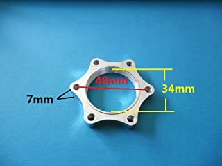 8fun Scooter/Electric-bike double hub nut Euro Diameter 48mm thread Disc brake rotor adaptor mount left Alum