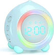 Digitale wekker, led nachtkastje dubbele wekker met nachtlampje, wekker voor kinderen, voor thuis slaapkamer reizen, USB a...