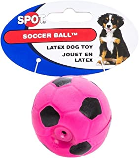 6 Pack Latex Soccer Ball Assorted Colors Toys for Small Dogs and Puppies (Size: 2 Inch)