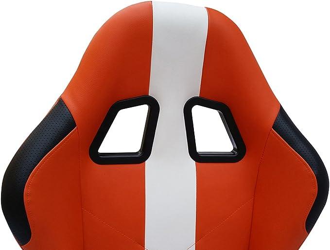 Fk Automotive Game Seat Spielsitz Für Pc Und Spielekonsolen Stoff Orange Weiß Games