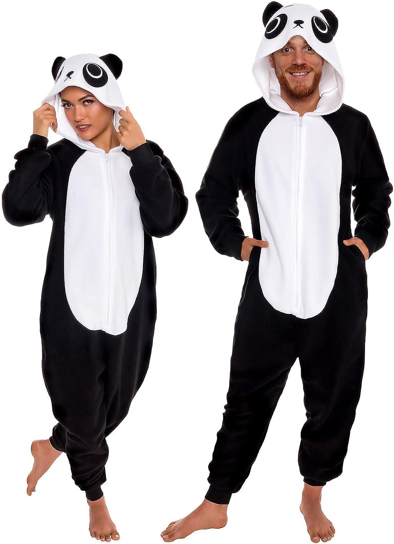 1. Slim Fit Animal Pajamas - Adult One Piece Cosplay Panda Costume
