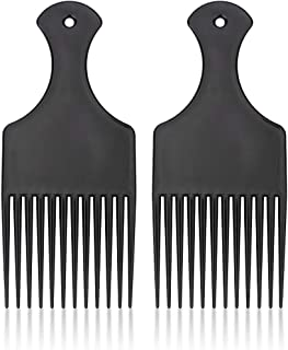 Beomeen Hair Comb Pick for Curly Afro Pick Hair Detangling Styling Comb with Wide Tooth,2 Pcs