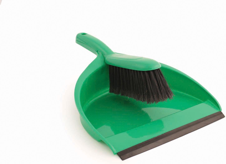 Soft Dustpan Large Surprise price discharge sale Brush Set Colour: 220mm wide. Green.